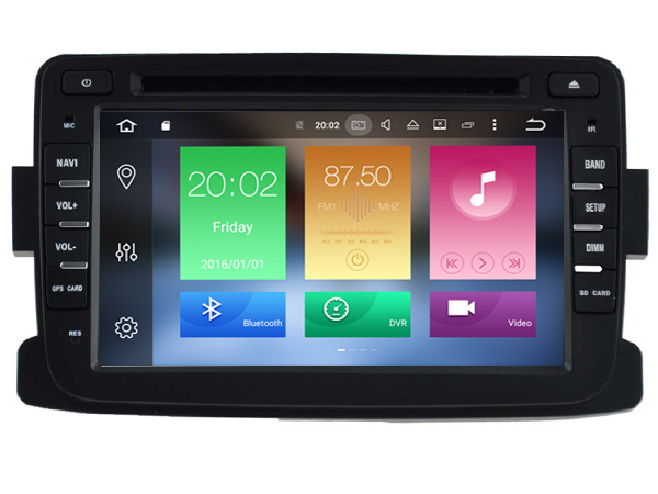Android 6 0 CAR Audio DVD player FOR RENAULT Dacia Duster Logan gps Multimedia head device