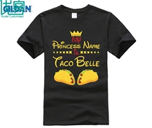 PRINCESS NAME IS TACO BELLE T-SHIRT Funny Food Humor Gift
