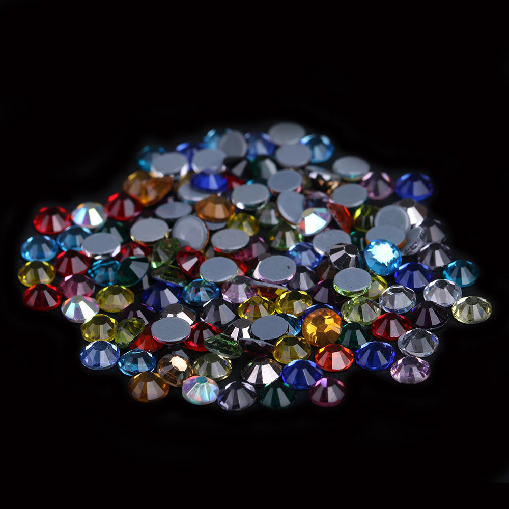Hotfix Rhinestones Crystal Rhinestone With Glue Backing Iron On Perfect For Clothes Shoes Dresses DIY Mixed Colors