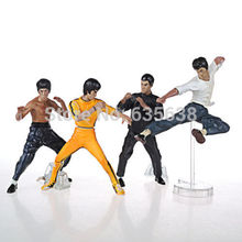 BRAND NEW 4pcs Bruce Lee Kung fu Master PVC 4″action figures #LC