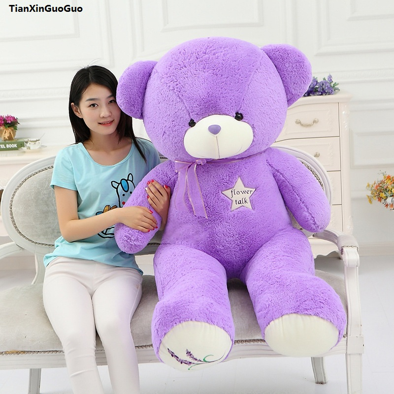 stuffed fillings toy huge 140cm purple teddy bear plush toy soft doll hugging pillow toy birthday gift s1005 fillings plush toy huge 180cm green crocodile doll soft throw pillow birthday gift h0709