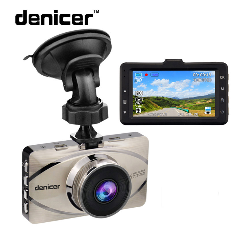 цена на Denicer Car DVR Recorder Full HD 1080P Video Recorder G-Sensor Camera Automovil 170 Degree Car Registrar Night Vision Car Cam