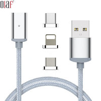 For iphone Type C Magnetic Cable Nylon Braided Micro USB Magnectic Cable Data Cable Magnet Fast Charging Cable for letv le max