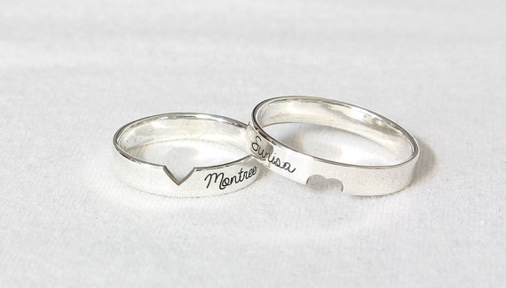 Customized Couple Rings Promise Rings Christmas Gi.