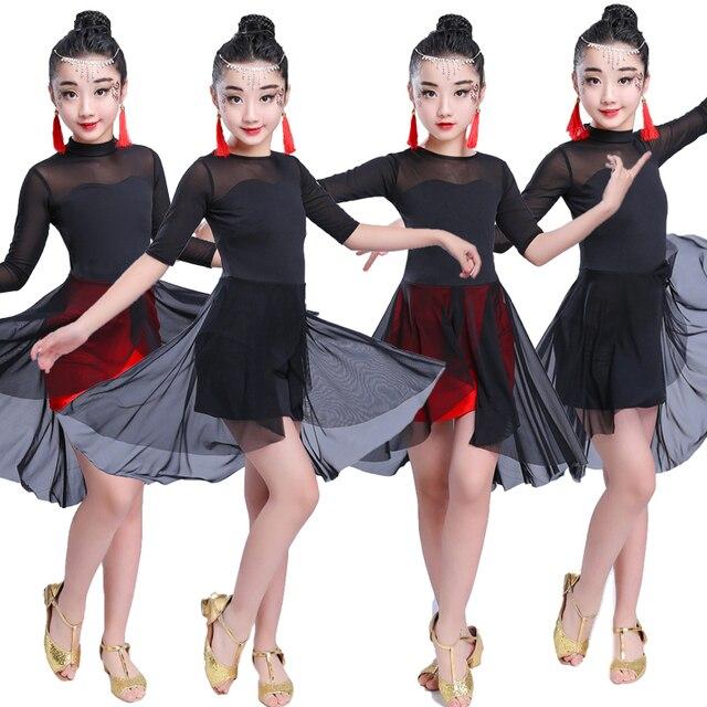 03f749414adf8 Girl Latin Dance Dress For Girls Cha Cha Dress Ballroom Dancing Dress Girl  Competition Dancewear Kids Kid Dance Costumes-in Latin from Novelty & ...