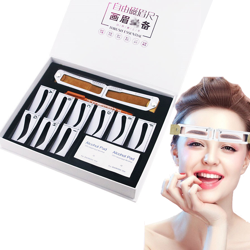 Magnetic Microblading Makeup Brow Measure Eyebrow Guide Ruler Permanent Tools Drop Shipping