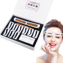 Magnetyczny Microblading makijaż brwi miarka brwi przewodnik linijka permanentne narzędzia drop shipping