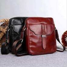 Leather Men Crossbody Bags Men's Shoulder Bag Cowhide Ipad men messenger bags