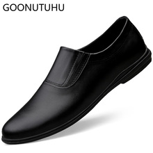 Men's shoes casual genuine leather cow loafers male classic solid brown black slip on shoe man breathable driving shoes for men цена в Москве и Питере