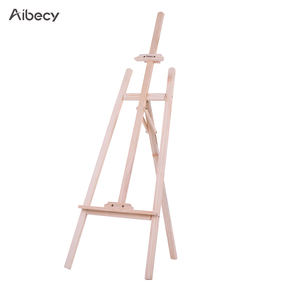Aibecy Durable Art Artist Wood Wooden Easel Sketch Drawing Stand NZ Pine for Painting Sketching Display