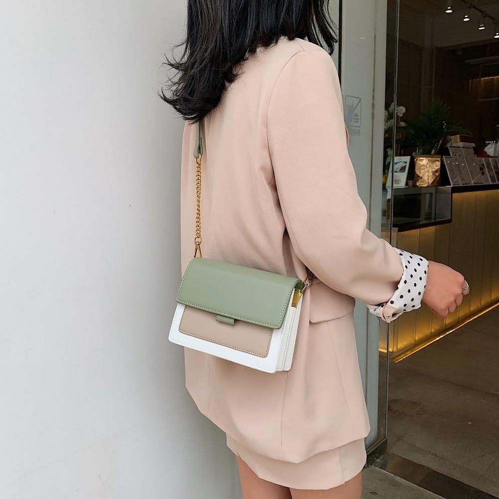 Mini Leder Umhängetaschen Für Frauen 2020 Grün Kette Schulter Messenger Bag Lady Reise Geldbörsen und Handtaschen Kreuz Körper Tasche 3