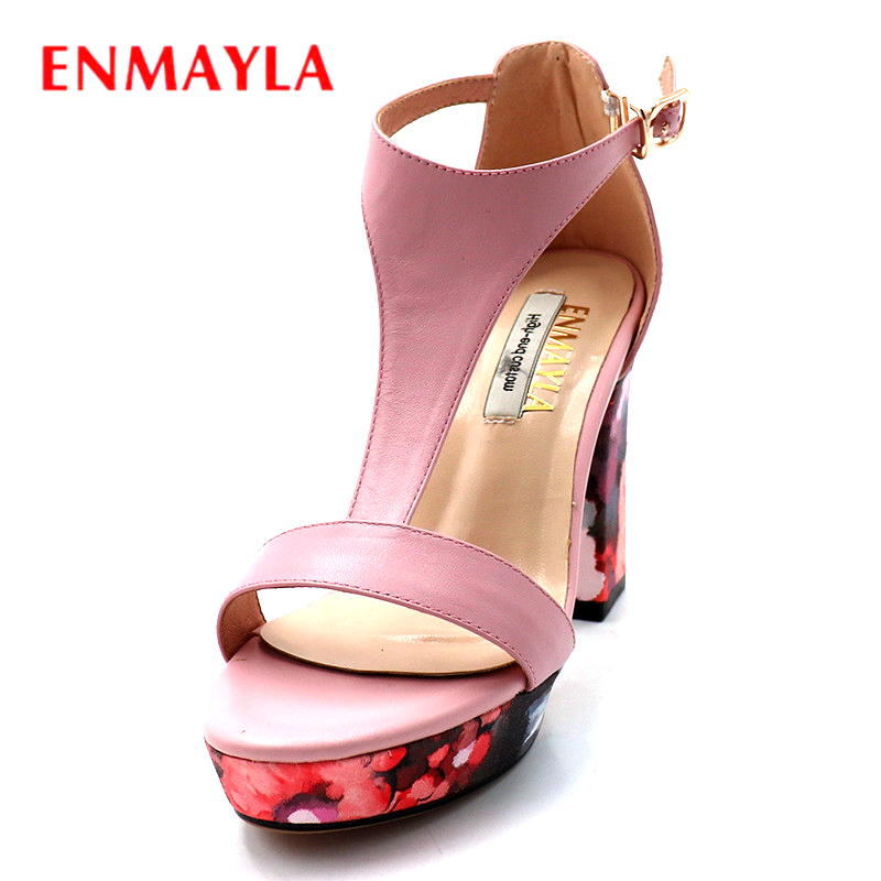 ENMAYLA Summer Sandals Women Platform Shoes High Heels Party Wedges Womens Shoes Sandals Buckle Strap Ladies Shoes new women casual platform wedges sandals fashion cross strap gladiator sandals for women sexy high heels ladies summer shoes