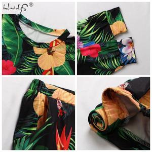 Image 5 - Осенне зимний пижамный комплект с цветочным принтом, Женская свободная мягкая пижама с длинным рукавом и круглым вырезом размера плюс, женская одежда для сна, Женская домашняя одежда