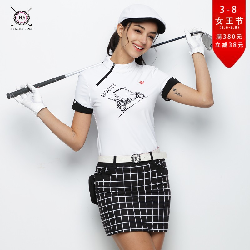 2018 BG Hot Selling New Breathable Golf Polo Shirt Women Short Sleeved Quick Dry T-shirt Ladies Sports Jersey polo shirt women everio summer golf t shirt short sleeve polo shirt quick dry breathable golf wear 5colors