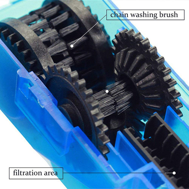 Portable Bicycle Chain Cleaner Bike Clean Machine Scrubber Wash Tool Mountain Road Bike Cycling Cleaning Kit