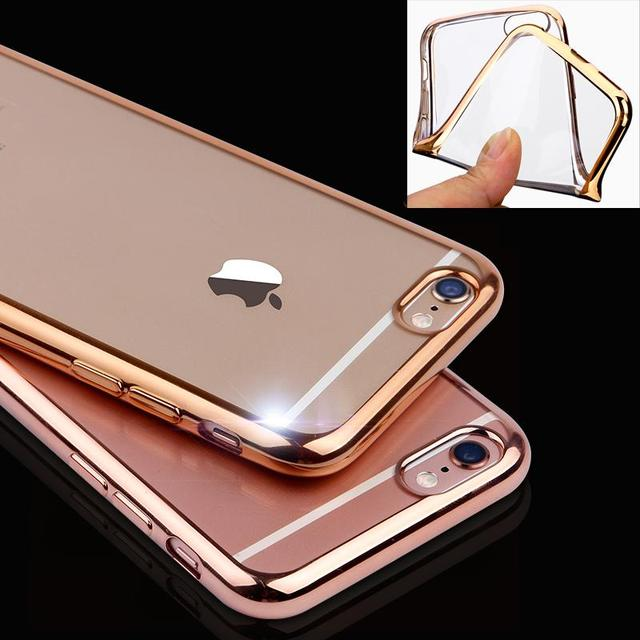 Aliexpress.com : Buy UltraThin Rose Gold Plating Crystal Clear Case For Iphone 7 6 6s Plus 5 5S
