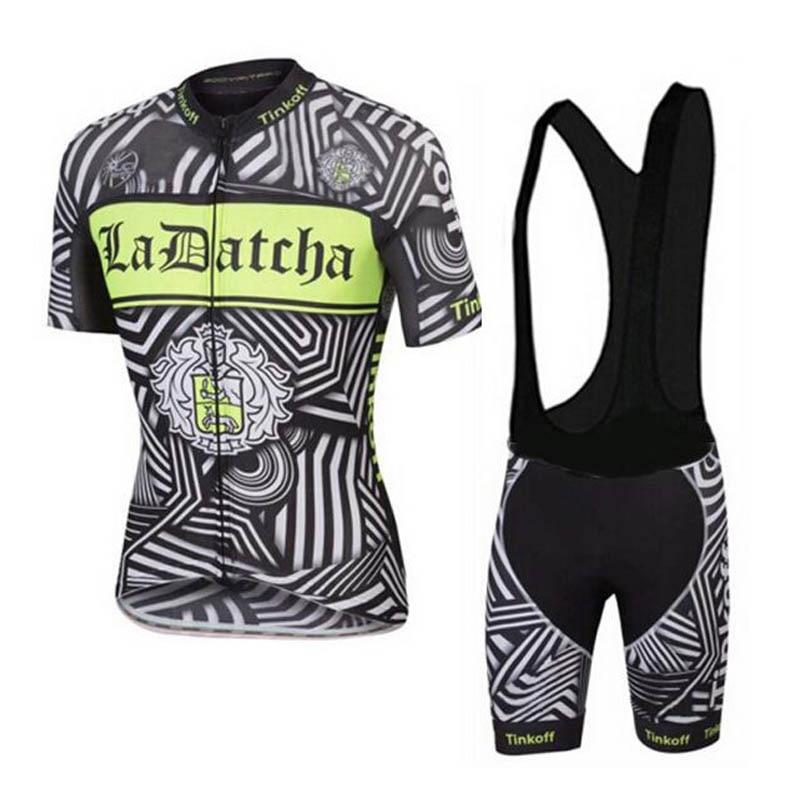 Může být Mix velikosti !!! Pro Cyklistický dres 2018 Tinkoff Ropa Ciclismo Hombre Summer Outdoor Racing Cyklistické oblečení Čína + Gel Pad