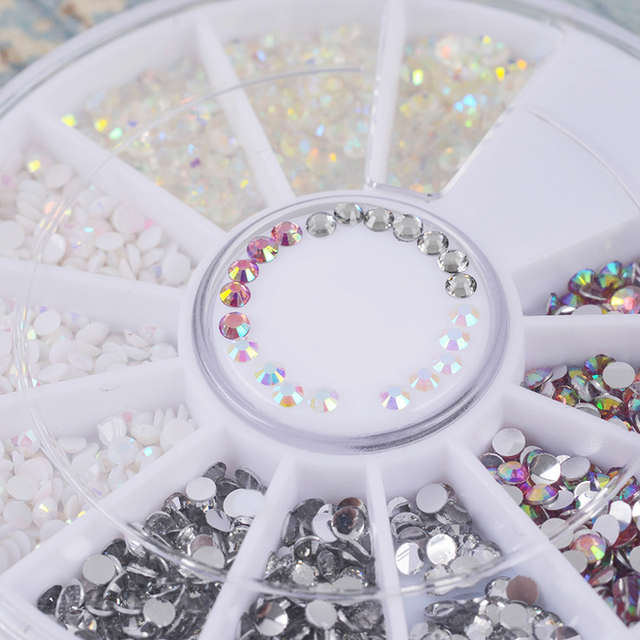 Multi Color Rhinestones Shinny Jelly Nail Art Studs