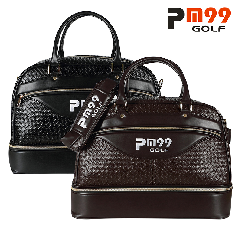 Golf Clothing Bag Waterproof PU Leather Golf Shoes Bag Double Shoulder Travel Clothing Bags High Capacity golf 3 td 2011