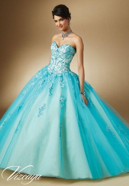 205dfaab631 Luxury Mint Green Quinceanera Dress 2015 Crystal Sweetheart Vestidos  Quinceanera 15 Anos Embroidery Vestido 15 Anos Festa