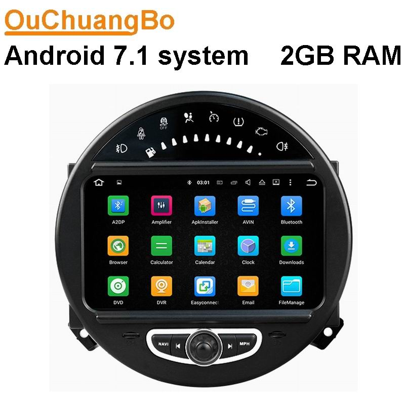 Android 7 1 font b Car b font navigation stereo radio for Mini cooper 2006 2013