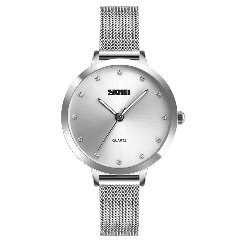 SKMEI Women Fashion Watches Luxury Stainless Steel Strap Quartz Watch Ladies Waterproof Elegant Wristwatches Relogio Feminino 4