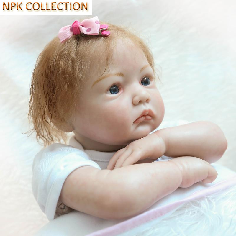 NPKCOLLECTION Silicone Reborn Dolls Baby Alive Soft Toys for Girls 20 Inch Real Dolls Silicone Newborn Babies Bonecas Baby Toys silicone reborn dolls baby alive doll soft toys for children christmas gifts 15 inch real reborn babies bonecas newborn dolls
