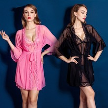 2016 New High Quality Sexy Floral Slips Pajamas Outfit Pink/Black/Red Women's Midnight Temptation Intimates Lady's Full Slips