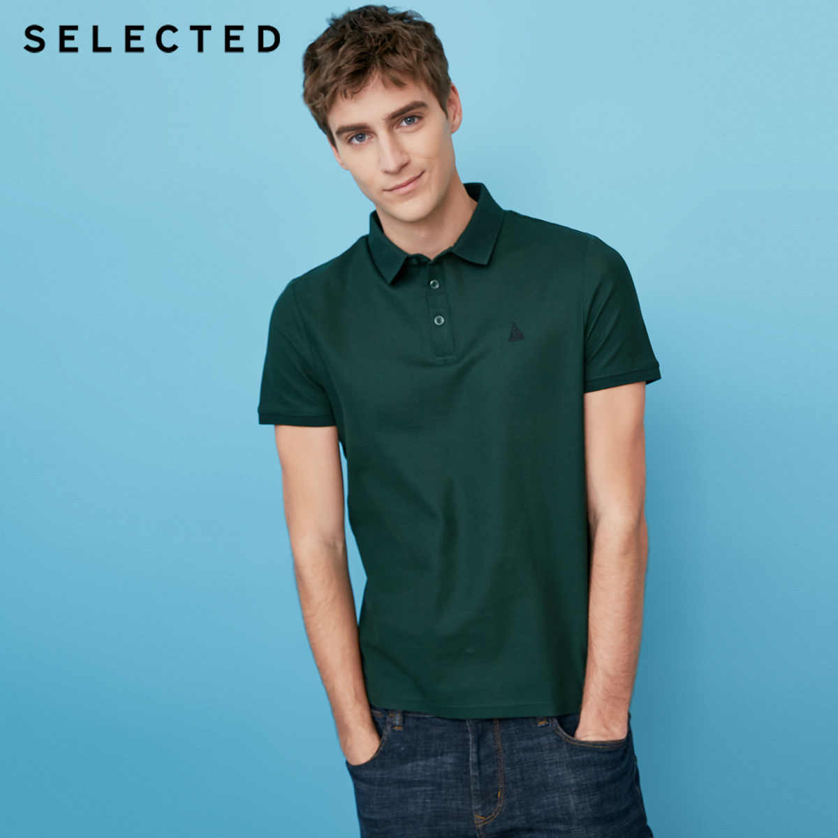 Избранные Новые мужские хлопковые вышитые повседневные шорты-рукав лацканы Футболки S | 41823Z525