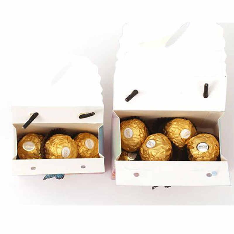 AVEBIEN 20 piezas hermosa caja de dulces para boda con mariposas y flores, bolsa de dulces para Baby Shower, boda, favores, caja de regalo de papel de Chocolate