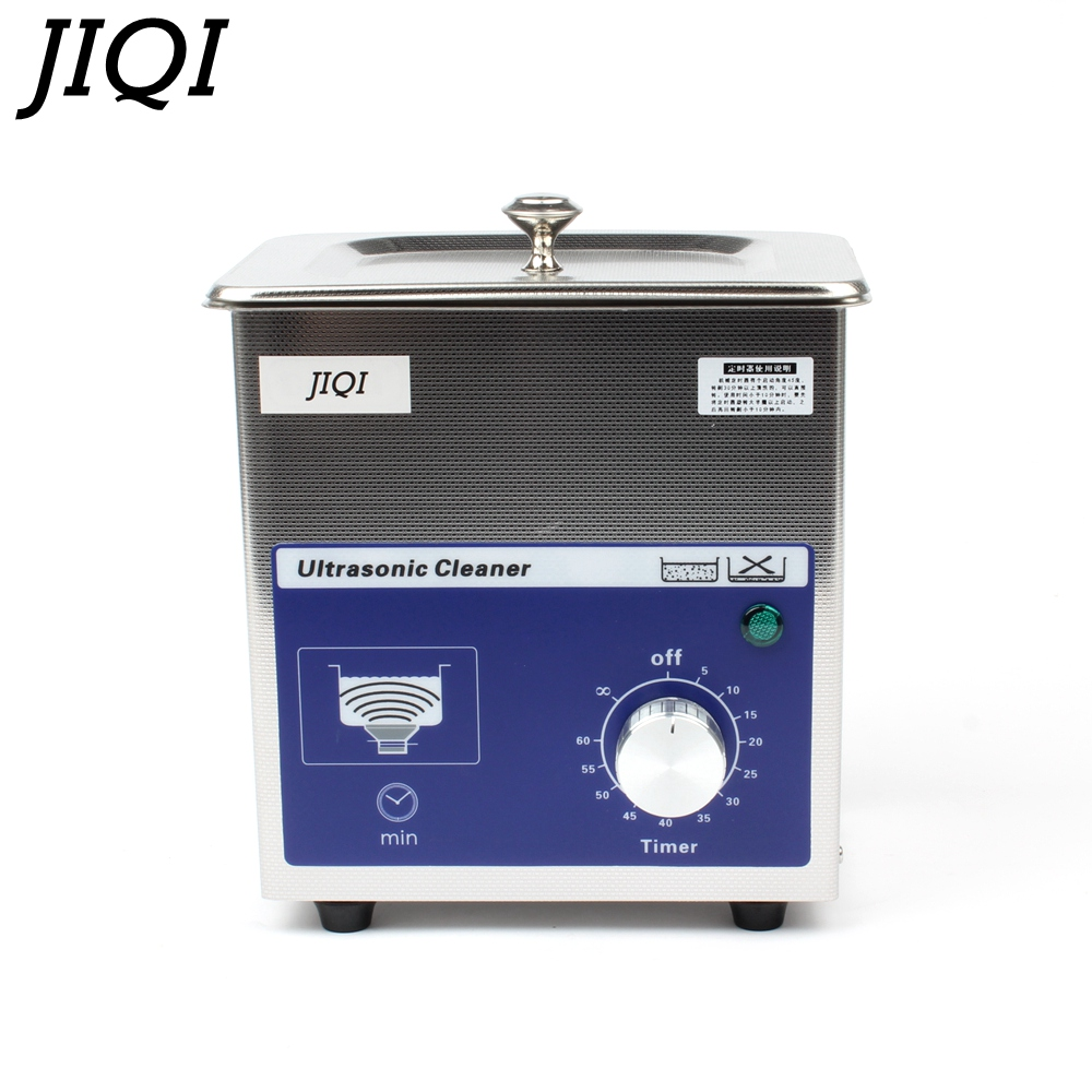 JIQI Ultrasonic cleaner timer 80w 0 7L 40KHZ for Household glasses jewelry Dental Watch Toothbrushes Cleaning