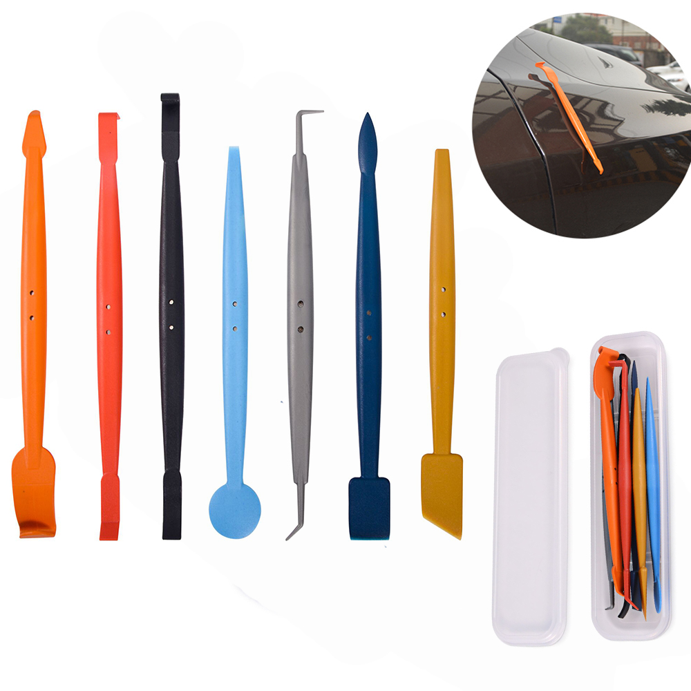 EHDIS 7pcs Car Window Tint Tools Set Car Wrapping Magnetic Foil Squeegee Vinyl Film Wrap Magnet Vehicle Sticker Styling Scraper
