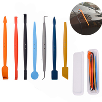 EHDIS 7pcs Vinyl Hand Tool Set Car Edge Wrapping Magnetic Foil Squeegee 3D Vinyl Film Wrap Magnet Window Sticker Install Scraper