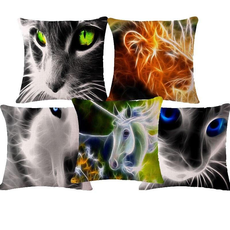 Cuscini Per Divani Design Originale.Design Originale 3d Animale Cane Lupo Stampato Cuscino Novita