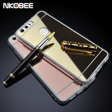 NKOBEE For Huawei Honor 8 Case Mirror Soft TPU Cover For Honor 8 Case Original Silicone For huawei Honor 8 Mobile Phone Funda