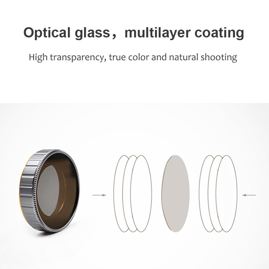 2019 nouveau 6 PC ND8 + ND16 + ND32 + ND64 + UV + CPL filtres d'objectif de caméra pour DJI OSMO Action 4 K caméra professionnelle lentilles en verre optique
