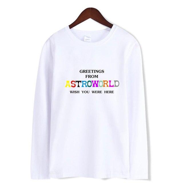 875a13fc87b4 LUCKYFRIDAYF 2018 BTS bts ASTROWORLD Long sleeve cotton T-Shirt women men  funny t shirts