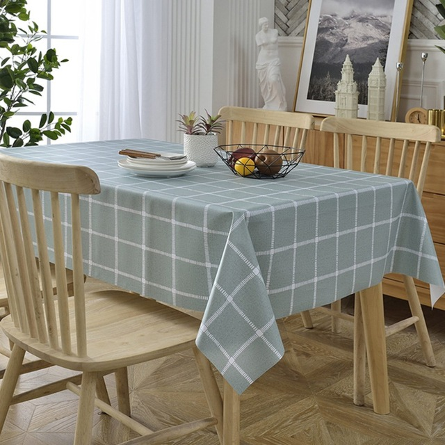 Plastic Pvc Waterproof Table Cloth Plaid Anti Hot Oil Proof Disposable Rectangle Square Household Nordic Tablecloths Zb012 3