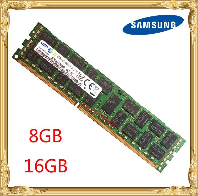 Memória ddr3 8 gb 16 do servidor de samsung 1333 mhz 1600 mhz 1866 ecc reg ddr3 PC3-12800R ram 240pin do dimm do registro 12800 8g 2rx4 x58 x79