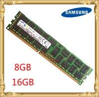 Samsung Серверная память DDR3 8 Гб 16 Гб 1333 МГц 1600 МГц 1866 ECC REG DDR3 PC3-12800R регистратор DIMM RAM 240pin 12800 8G 2RX4 X58 X79