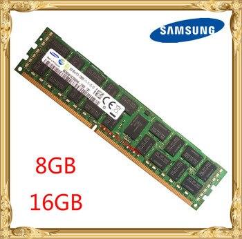 Samsung память сервера DDR3 8 Гб оперативной памяти, 16 Гб встроенной памяти, 1333 МГц 1600 1866 ECC REG DDR3 PC3-12800R регистрация DIMM Оперативная память 240pin 12800 8G ...