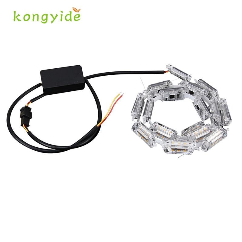2Pcs Car Flexible Switchback LED Knight Rider Strip Light