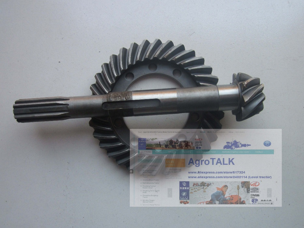 Dongfeng tractor DF200 250, the spiral bevel gear with shaft, part number: 200.38.127+200.38.118 gear pump cbn e316l left rotation with flange no end oil outlet splined long shaft of dongfeng tractor
