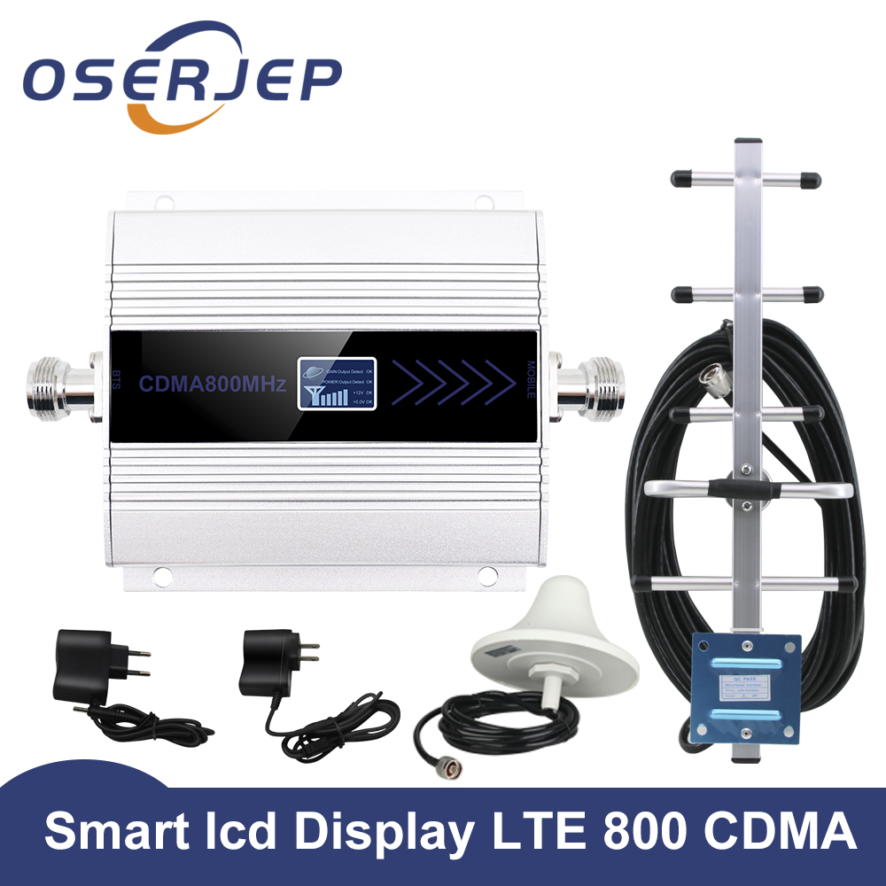LCD ディスプレイ CDMA 850 mhz のリピータ celular 携帯電話の信号リピータブースター、 850 アンプ + 八木/天井アンテナ  グループ上の 携帯電話 & 電気通信 からの シグナルブースター の中 1