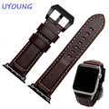 High Quality Brown Color Leather 38/42MM Width Apple Watch Strap Band For Apple Watches