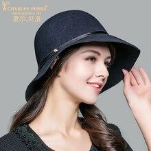 Charles Perra Brand Women Hats Autumn Winter Fashion Hat Casual Elegant Lady Wool Caps Keep Warm England Style Fedoras 6049