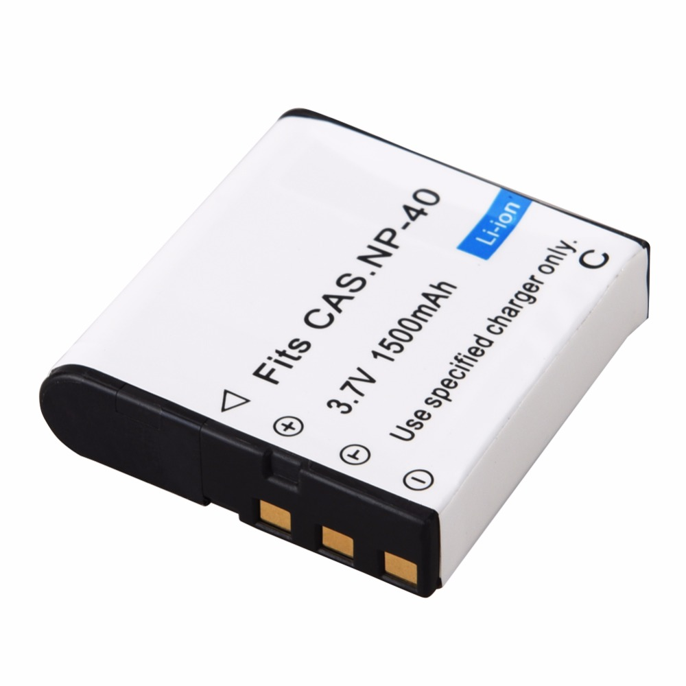 цена на 1pc 1500mAh NP-40 Digital Camera Battery for Casio EX-Z30/Z40/Z50/Z55/Z57/Z750 EX-P505/P600/P700 PM200 NP 40 NP40 CNP40 Battery