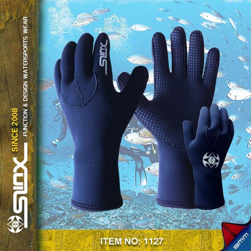 SLINX 3mm neoprene font b gloves b font for diving spearfishing sailing swimming wear dive equipment