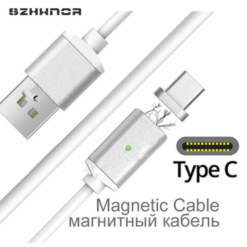 LED Magnetic USB C 3.0 USB Magnet Plug & Type C USB Charger for Samsung Xiaomi mi 8 a1 mix 2 Huawei p20 pro lite honor 10 9