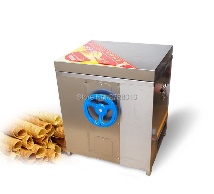 Gas Egg Roll Maker Stainless Steel Egg Roll Machine Commercial Crackling Egg-cookie-roll Machine Non-stick Egg-roll Maker 60 fast food leisure fast food equipment stainless steel gas fryer 3l spanish churro maker machine